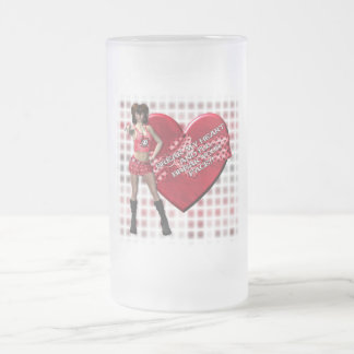 Break My Heart - Frosted Glass Stein Frosted Glass Mug