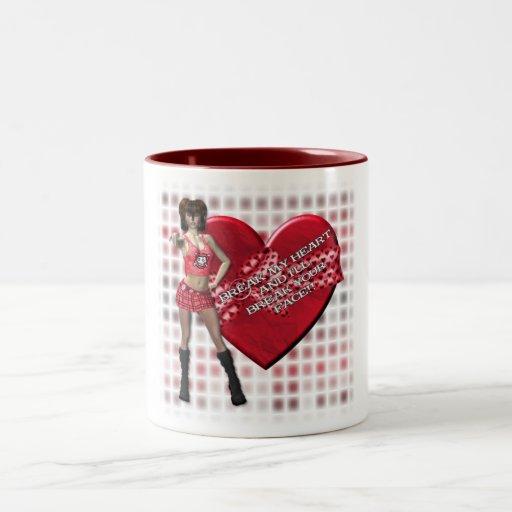 Break My Heart - Two-Tone Mug