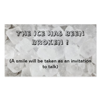 Break the ice dating business card