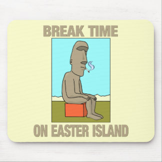 Break time on Easter Island Mouse Mat