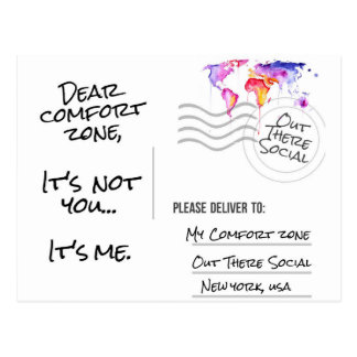Break Up With Your Comfort Zone Post Cards