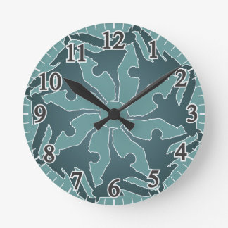Breakdance Spiral Round Clock