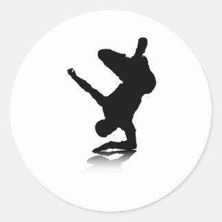 Breakdancer (on elbow) classic round sticker