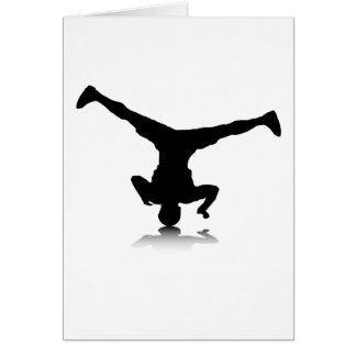 Breakdancer (spin) greeting card