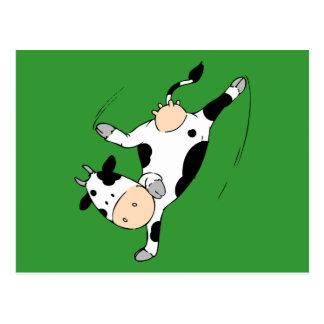 Breakdancing cow (mooviestars) postcard