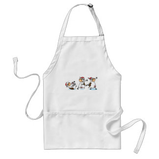 Breakdancing Cows at Christmas Adult Apron