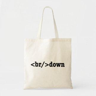 breakdown HTML Code Budget Tote Bag