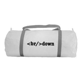 breakdown HTML Code Gym Duffel Bag