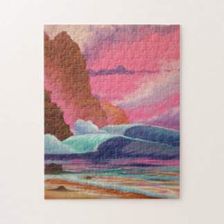 Breakers at Sunset Jigsaw Puzzle