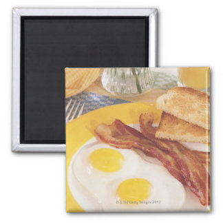 Breakfast 2 square magnet