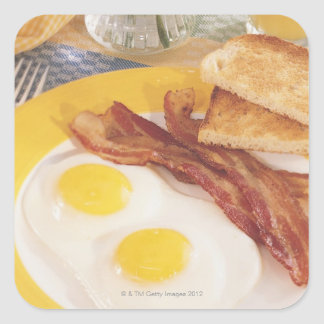 Breakfast 2 square sticker
