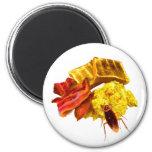 Breakfast 6 Cm Round Magnet