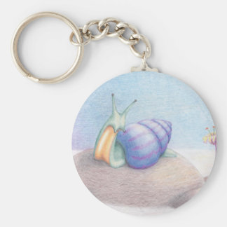 Breakfast above the clouds basic round button key ring