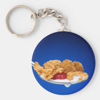 Breakfast Basic Round Button Key Ring