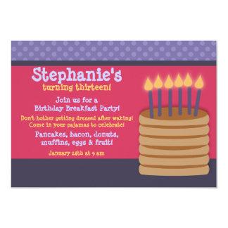 Breakfast Buffet Birthday Party Invitations