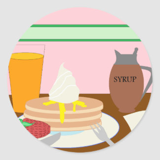 Breakfast Classic Round Sticker