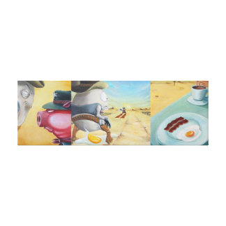 Breakfast Coupling Stretched Canvas Print