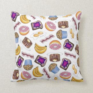 Breakfast Food Eggs Toast Bananas Pancakes Pillow