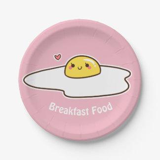 Breakfast Food Paper Plate
