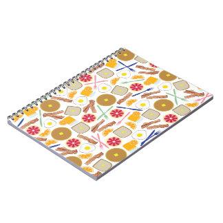 Breakfast Foods Spiral Notebook