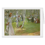 Breakfast in the Open by Carl Larsson Cards