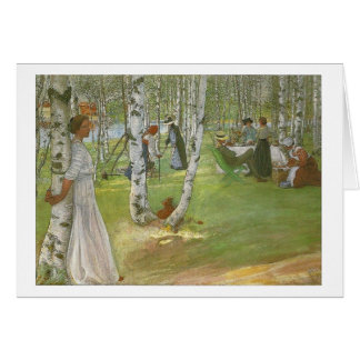 Breakfast in the Open by Carl Larsson Greeting Card
