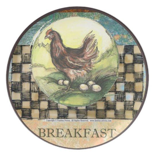 Breakfast - Melamine Plate