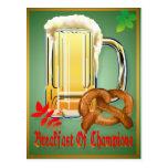 Breakfast of Champions-Happy Oktoberfest  Postcard
