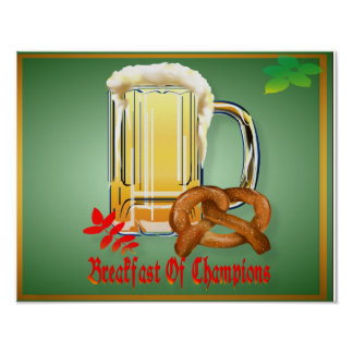 Breakfast of Champions-Happy Oktoberfest Poster
