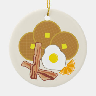 Breakfast Ornament- Waffles, Bacon and Egg Christmas Ornament