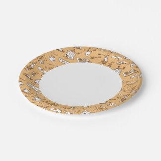 Breakfast Pattern 2 7 Inch Paper Plate