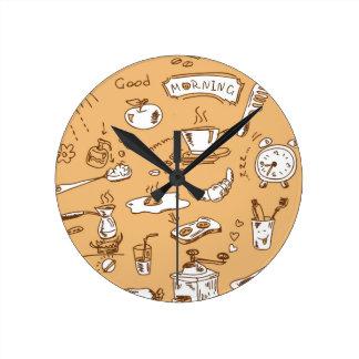 Breakfast Pattern 2 Clocks
