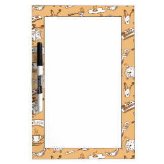 Breakfast Pattern 2 Dry Erase Board