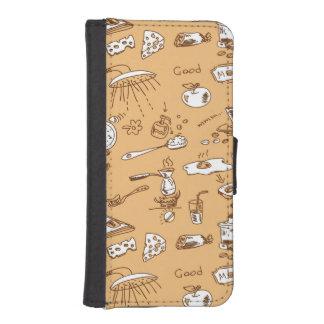 Breakfast Pattern 2 iPhone SE/5/5s Wallet Case