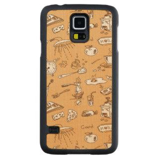 Breakfast Pattern 2 Maple Galaxy S5 Case