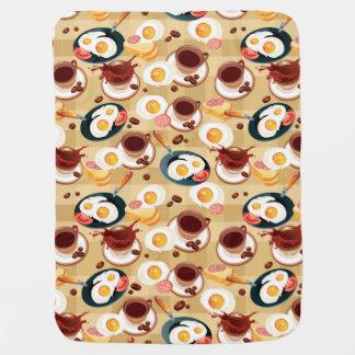 Breakfast Pattern 3 Baby Blankets
