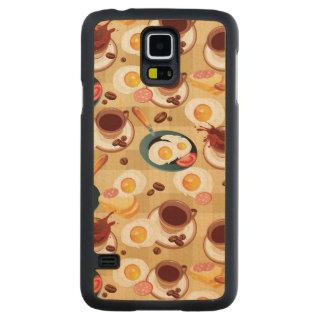 Breakfast Pattern 3 Maple Galaxy S5 Slim Case