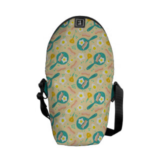 Breakfast Pattern Courier Bags