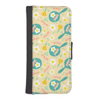 Breakfast Pattern iPhone SE/5/5s Wallet Case
