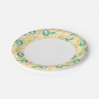 Breakfast Pattern Paper Plate