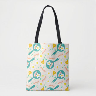 Breakfast Pattern Tote Bag