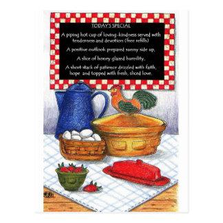 Breakfast Special Inspirational Card Postcard
