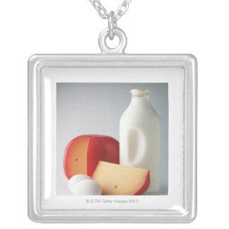 Breakfast Square Pendant Necklace