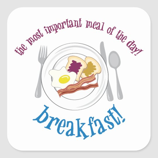 Breakfast! Square Sticker
