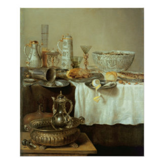 Breakfast Still Life, 1638 Poster