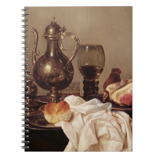 Breakfast Still Life (oil on panel) Spiral Notebook