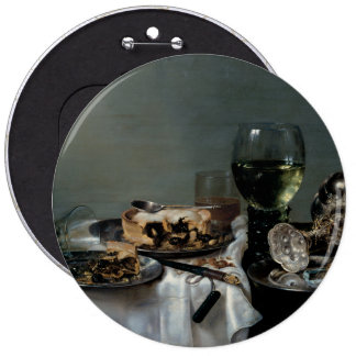 Breakfast Table with Blackberry Pie by Heda 6 Cm Round Badge