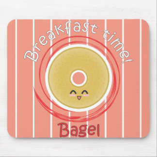 Breakfast Time - Bagel Mouse Pad