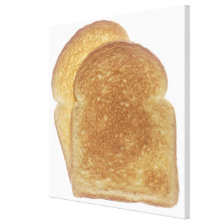 Breakfast Toast Stretched Canvas Print