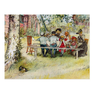 Breakfast under the Big Birch by Carl Larsson Postcard